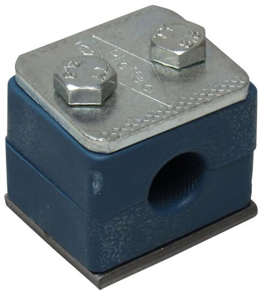 Doppel-Rohrschelle für 2x 14 mm Rohr Hydraulik